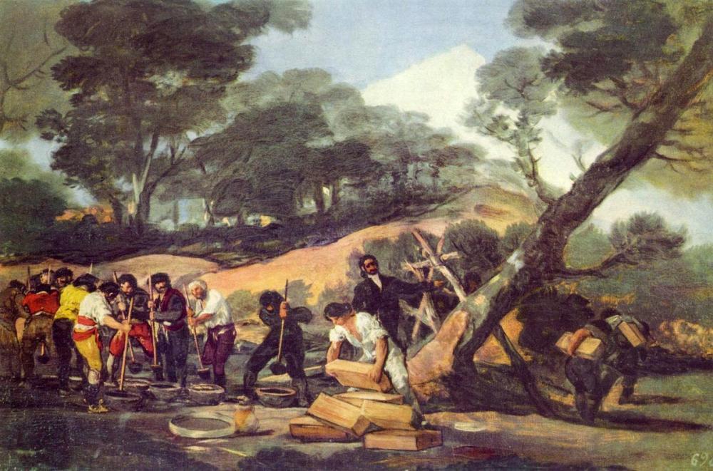 Francisco Goya, Sierra de Tardienta da Barut İmalatı, Kanvas Tablo, Francisco Goya, kanvas tablo, canvas print sales