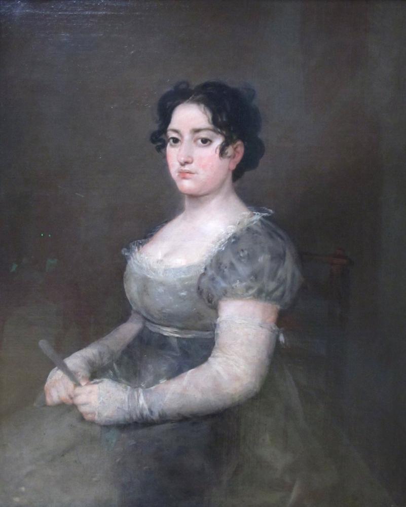 Francisco Goya, Yelpazeli Kadın, Kanvas Tablo, Francisco Goya, kanvas tablo, canvas print sales