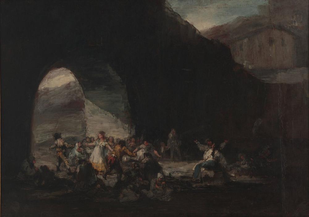 Francisco Goya, Fiesta Popular Bajo un Puente, Canvas, Francisco Goya, kanvas tablo, canvas print sales