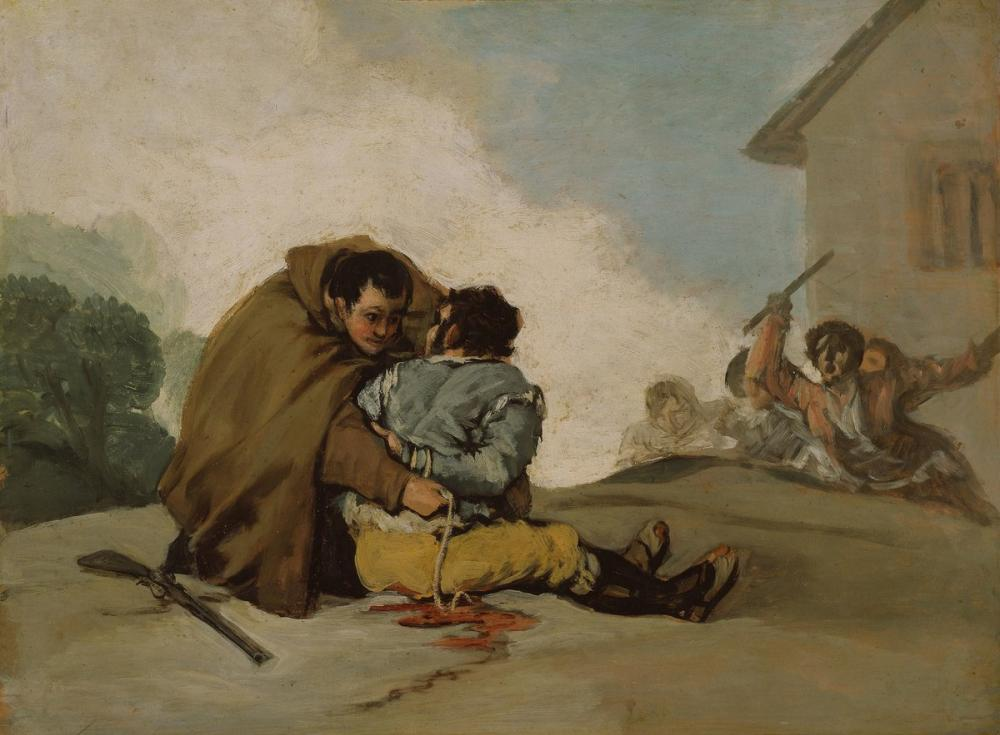 Francisco Goya, Friar Pedro Bir İp İle El Maragato ya Bağlandı, Kanvas Tablo, Francisco Goya, kanvas tablo, canvas print sales