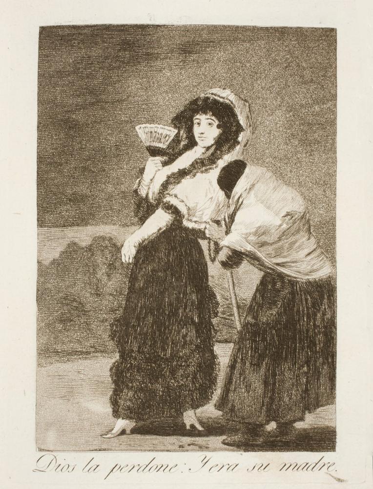 Francisco Goya, God Forgive Her It Was Her Mother, Canvas, Francisco Goya, kanvas tablo, canvas print sales