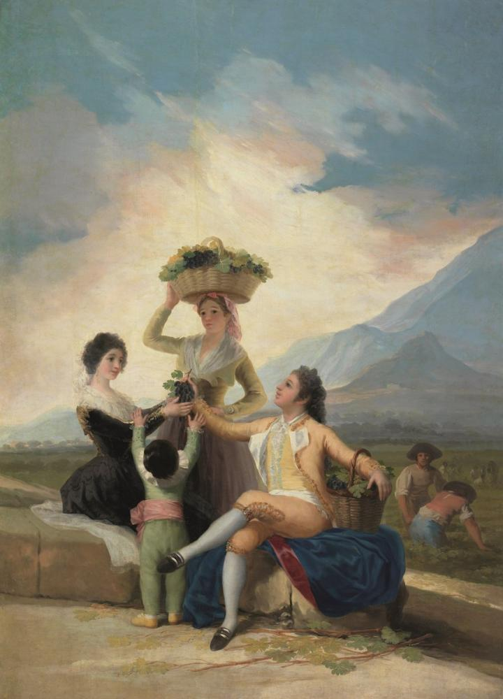 Francisco Goya, Üzüm Hasatı Veya Sonbahar, Kanvas Tablo, Francisco Goya, kanvas tablo, canvas print sales