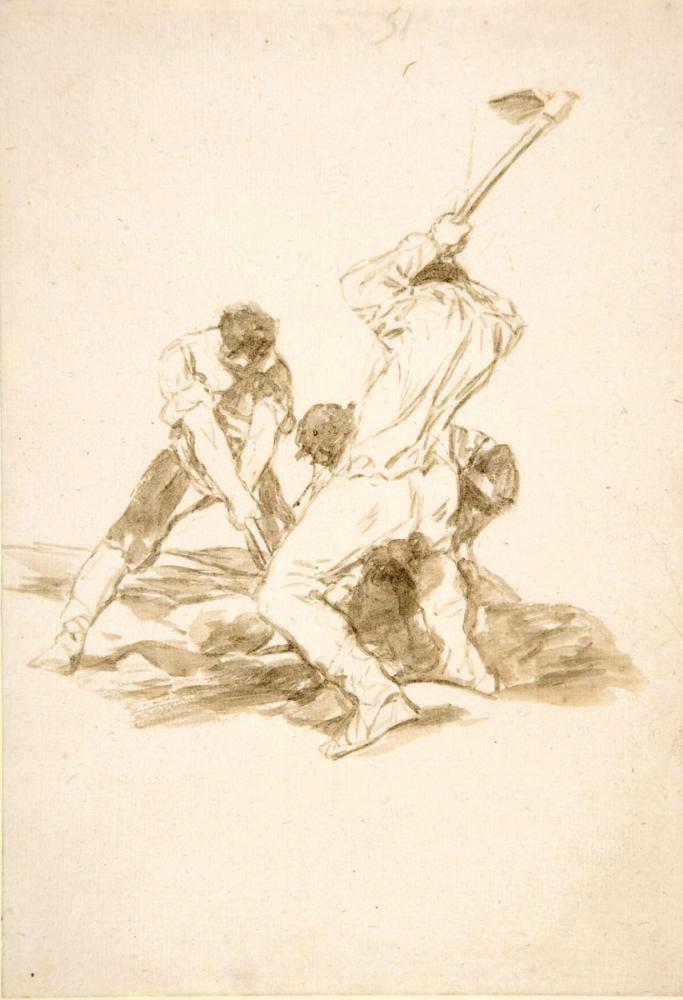 Francisco Goya, Mezar Kazıcılar, Figür, Francisco Goya, kanvas tablo, canvas print sales