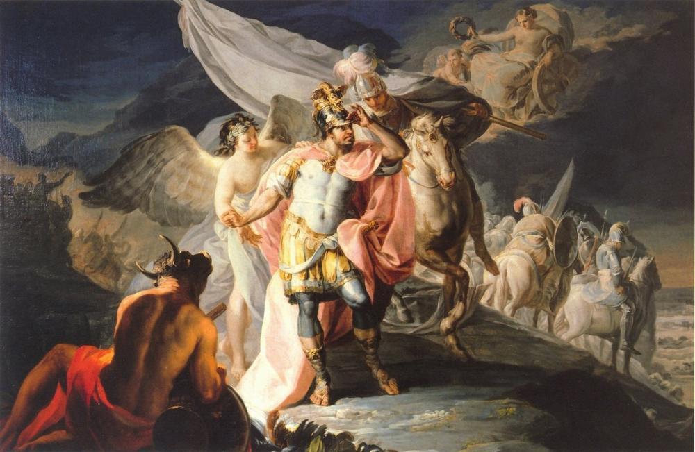 Francisco Goya, İlk Defa Kazanan Hanibal İtalya'yı Alp'lerden Sanıyor., Kanvas Tablo, Francisco Goya, kanvas tablo, canvas print sales