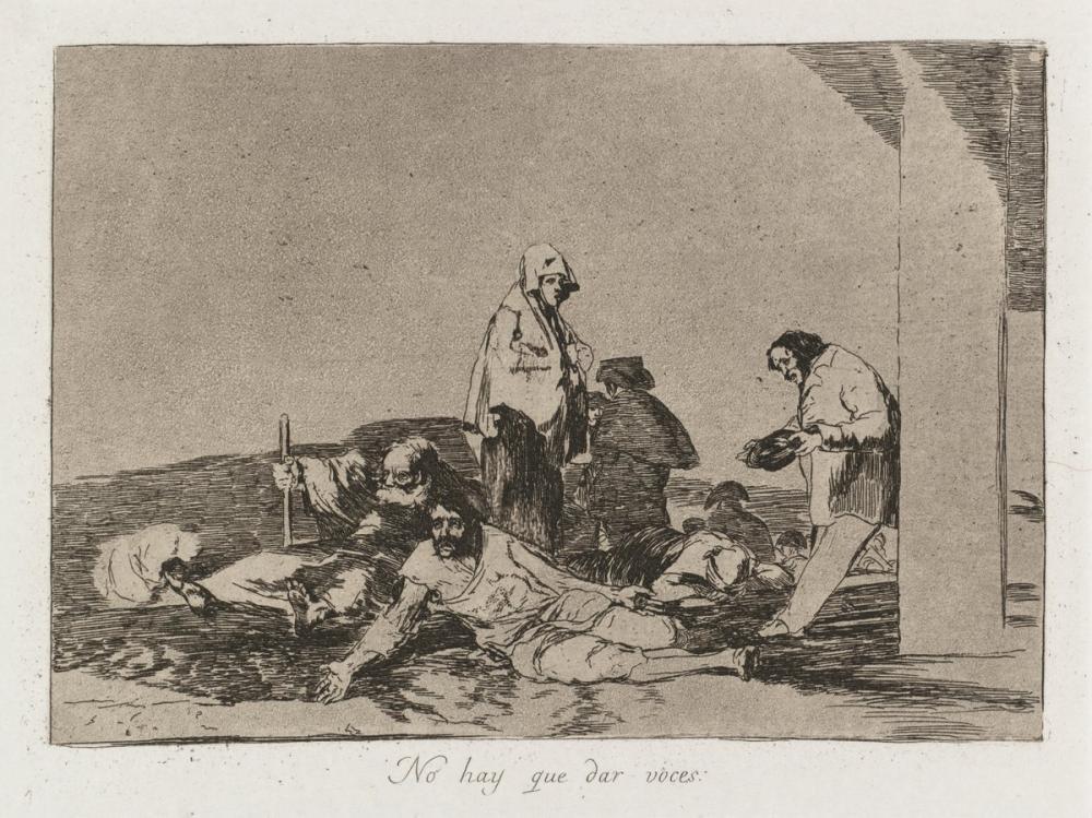Francisco Goya, Bağırmanın Faydası Yok, Figür, Francisco Goya, kanvas tablo, canvas print sales