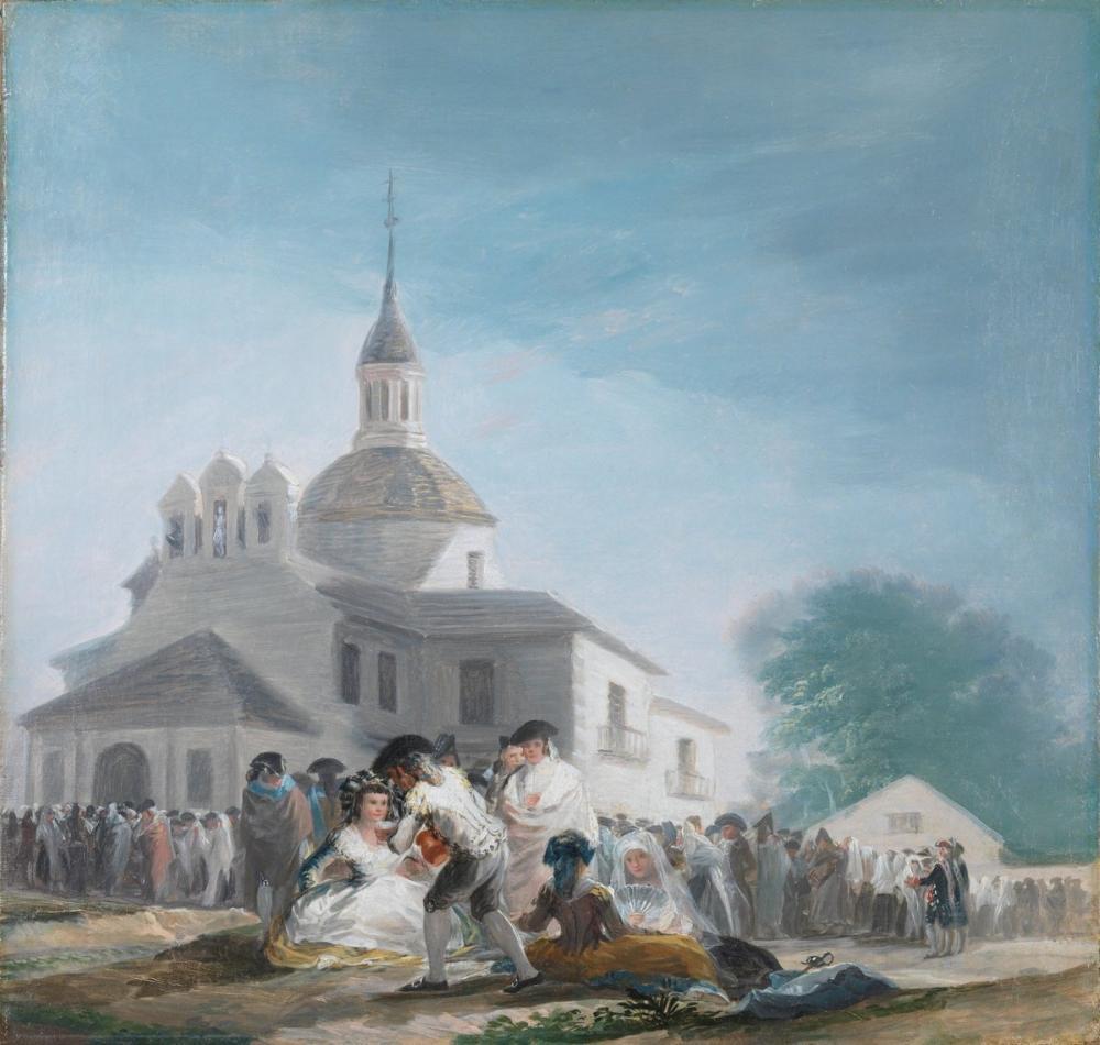 Francisco Goya, La ermita de San Isidro el Día de La Fiesta, Canvas, Francisco Goya, kanvas tablo, canvas print sales