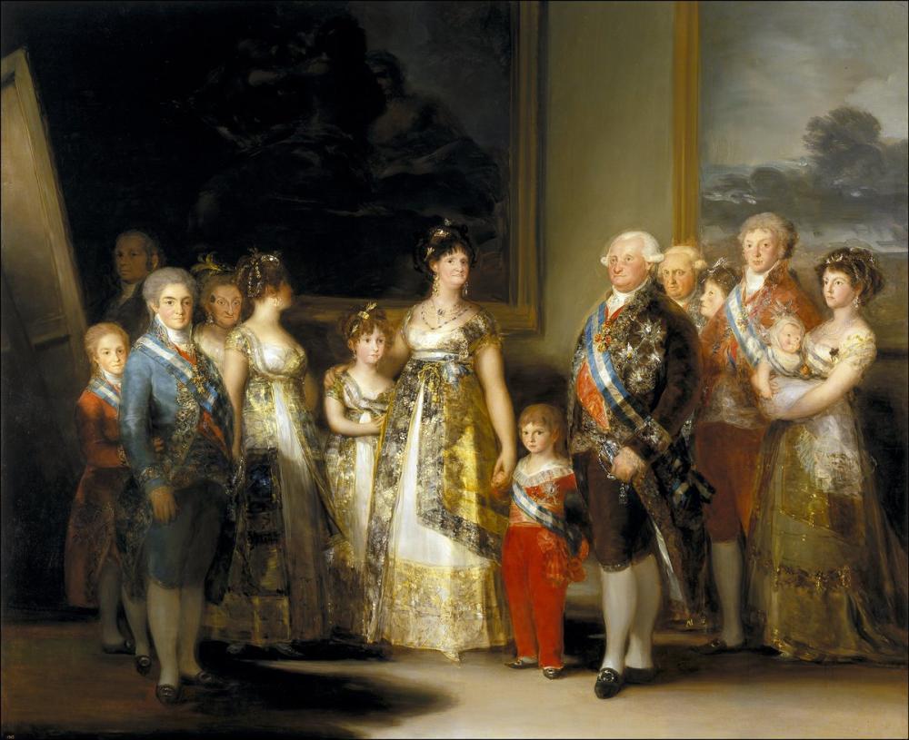 Francisco Goya, Carlos IV ün Ailesi, Kanvas Tablo, Francisco Goya, kanvas tablo, canvas print sales