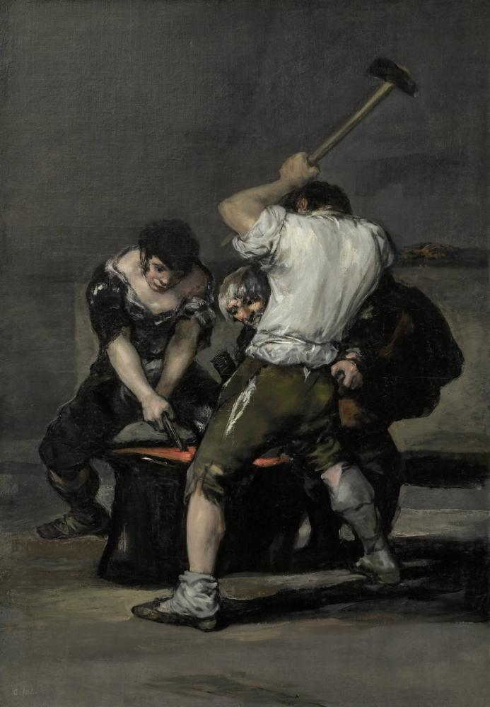 Francisco Goya, La Fragua, Canvas, Francisco Goya, kanvas tablo, canvas print sales