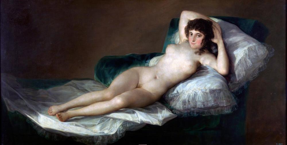Francisco Goya, La Maja Çıplak, Kanvas Tablo, Francisco Goya, kanvas tablo, canvas print sales