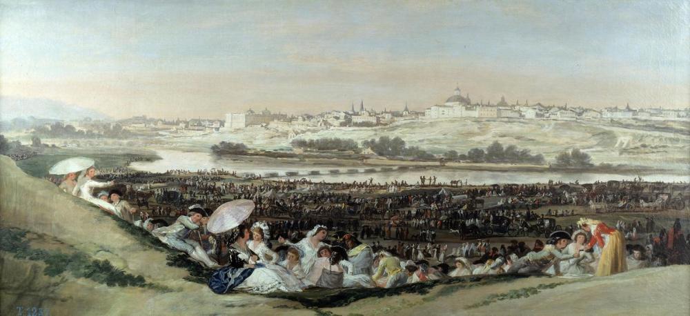 Francisco Goya, San Isidro Çayırları, Kanvas Tablo, Francisco Goya, kanvas tablo, canvas print sales