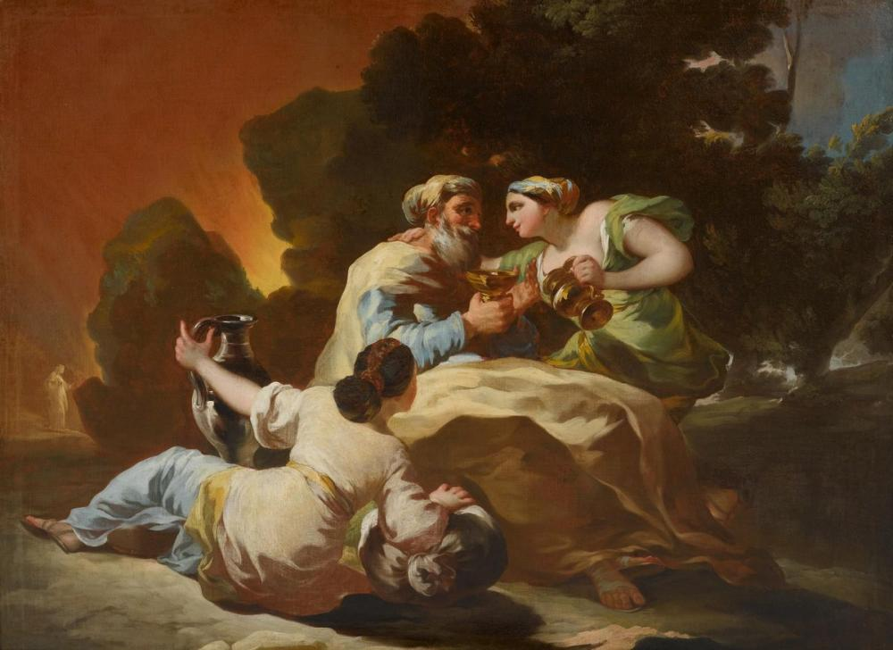 Francisco Goya, Lot And His Daughters, Canvas, Francisco Goya, kanvas tablo, canvas print sales