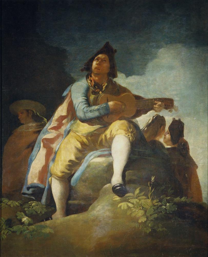 Francisco Goya, Majo de La Guitarra, Canvas, Francisco Goya, kanvas tablo, canvas print sales