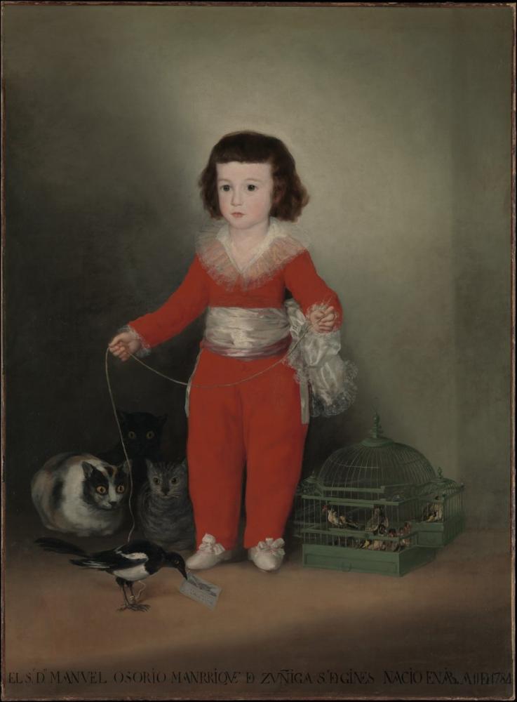 Francisco Goya, Manuel Osorio Manrique de Zuniga, Kanvas Tablo, Francisco Goya, kanvas tablo, canvas print sales