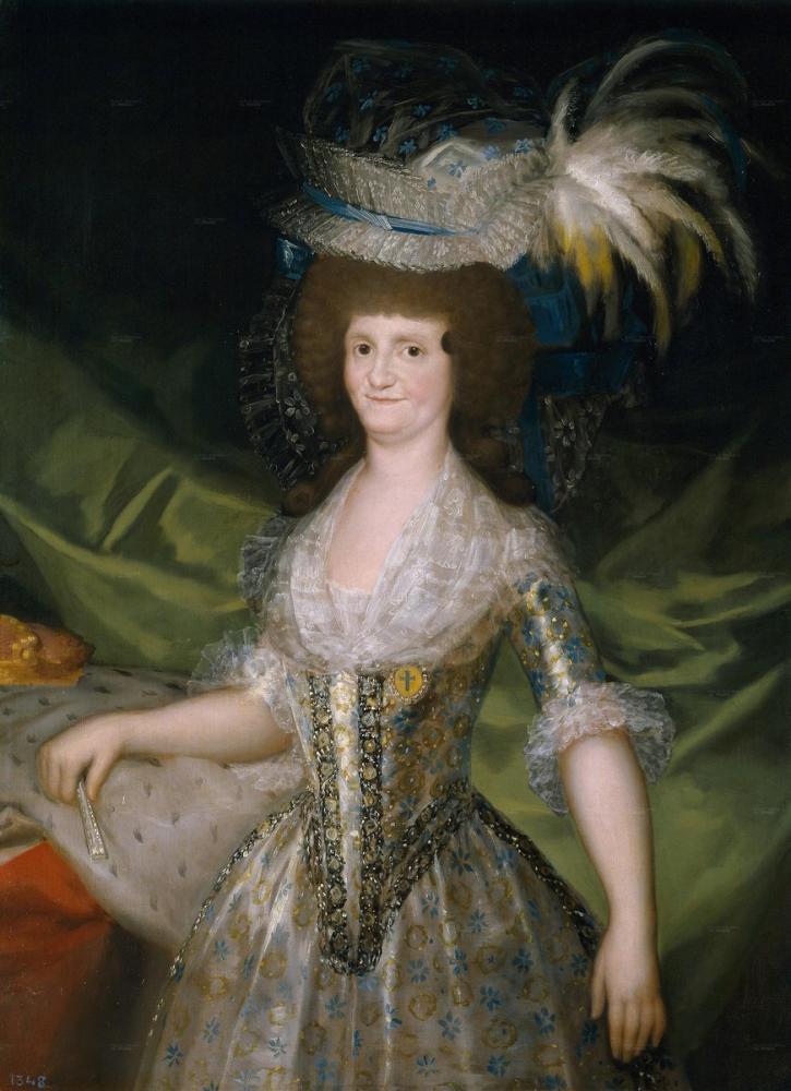 Francisco Goya, María Luisa de Parma İspanya Kraliçesi, Kanvas Tablo, Francisco Goya, kanvas tablo, canvas print sales