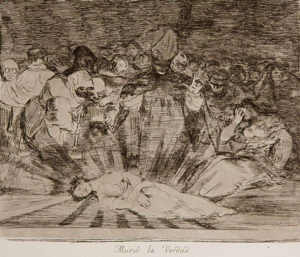 Francisco Goya, Murió la Verdad Desastres, Figure, Francisco Goya, kanvas tablo, canvas print sales