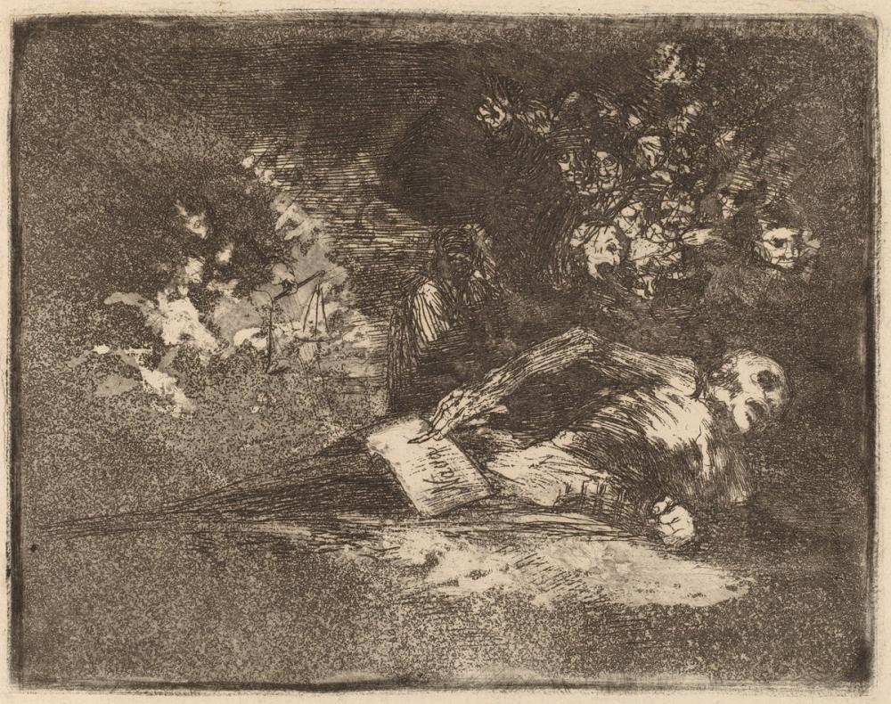 Francisco Goya, Nada Nothing, Figure, Francisco Goya, kanvas tablo, canvas print sales