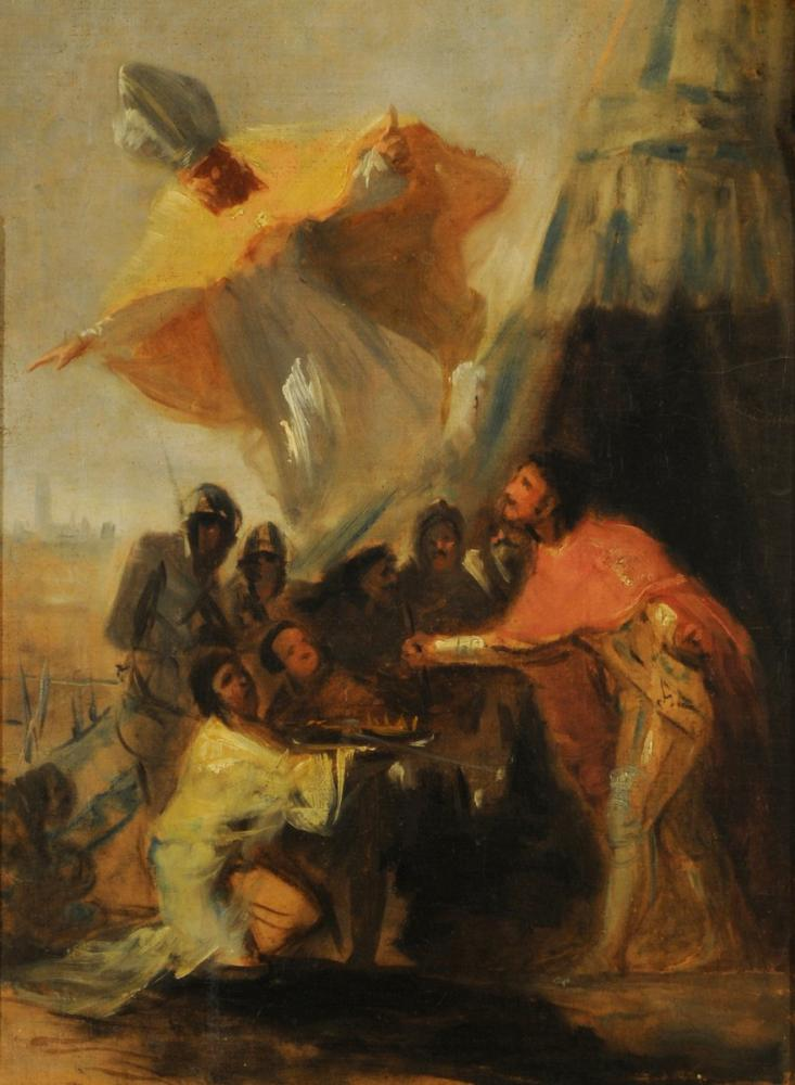 Francisco Goya, Appearance Of San Isidoro To King Fernando The Holy Before The Walls Of Seville, Canvas, Francisco Goya, kanvas tablo, canvas print sales