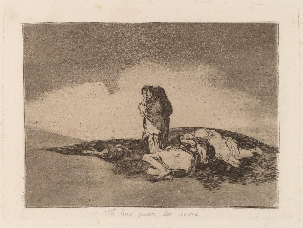 Francisco Goya, Onlara Yardım Eden Kimse Yok, Figür, Francisco Goya, kanvas tablo, canvas print sales
