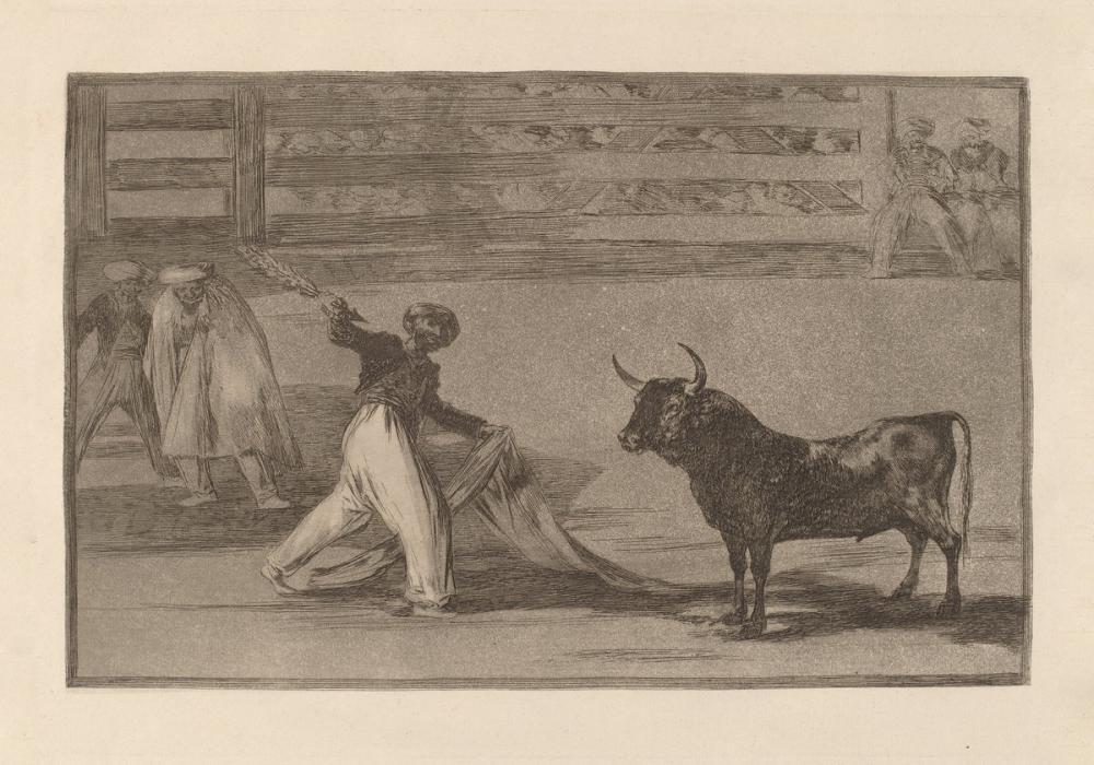 Francisco Goya, Origin Of The Harpoons Or Banderillas, Figure, Francisco Goya, kanvas tablo, canvas print sales