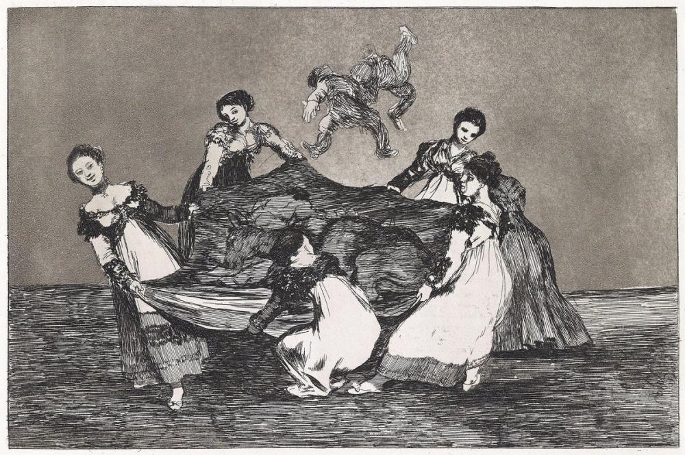 Francisco Goya, Ölü Bir Eşekten Daha Ağır, Figür, Francisco Goya, kanvas tablo, canvas print sales