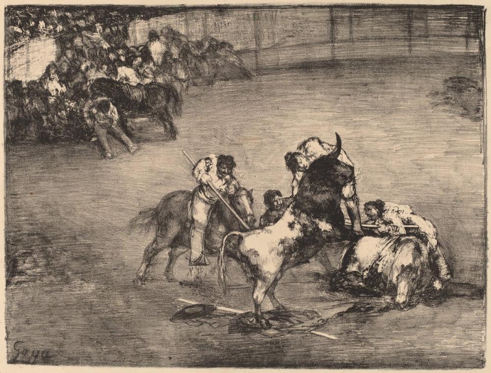 Francisco Goya, Picador Caught By A Bull, Figure, Francisco Goya, kanvas tablo, canvas print sales