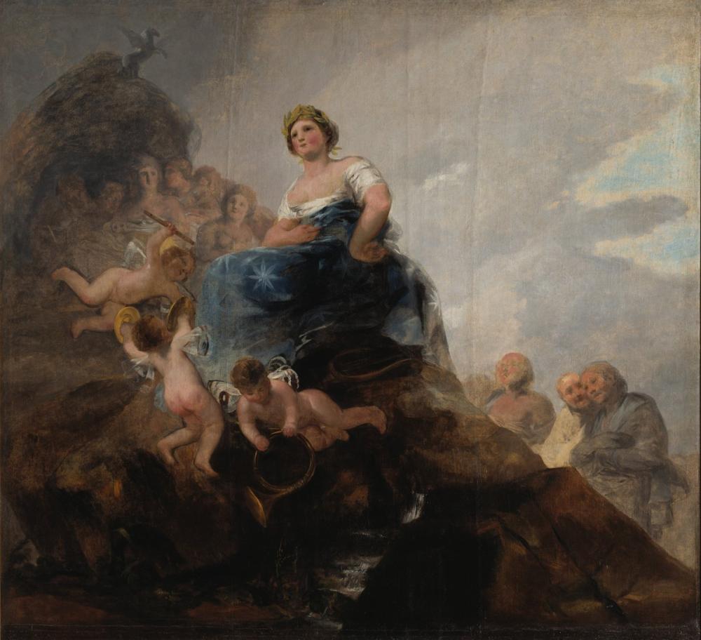 Francisco Goya, Poetry And Poets, Canvas, Francisco Goya, kanvas tablo, canvas print sales