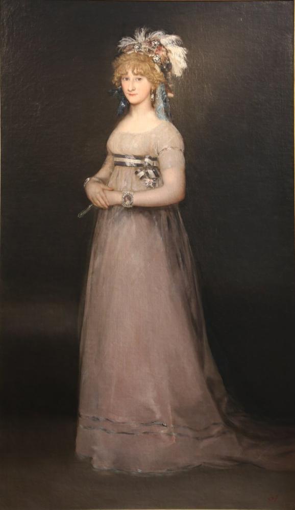 Francisco Goya, Portrait der Graefin von Chinchon Uffizien Florenz, Canvas, Francisco Goya, kanvas tablo, canvas print sales