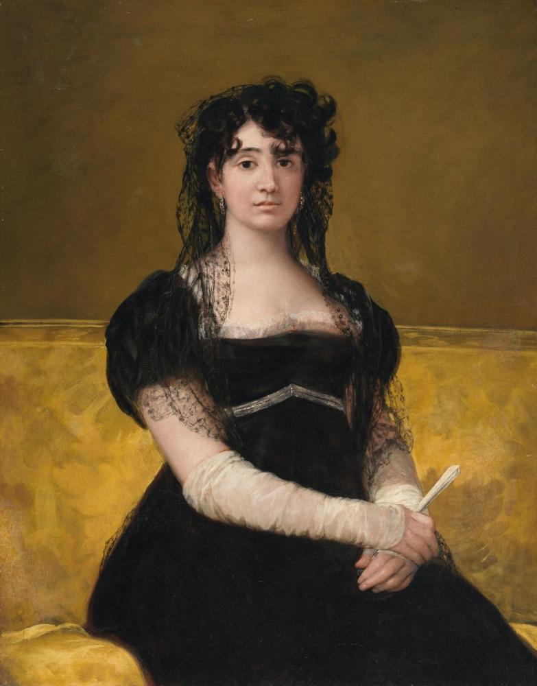 Francisco Goya, Portrait of Antonia Zárate, Canvas, Francisco Goya, kanvas tablo, canvas print sales
