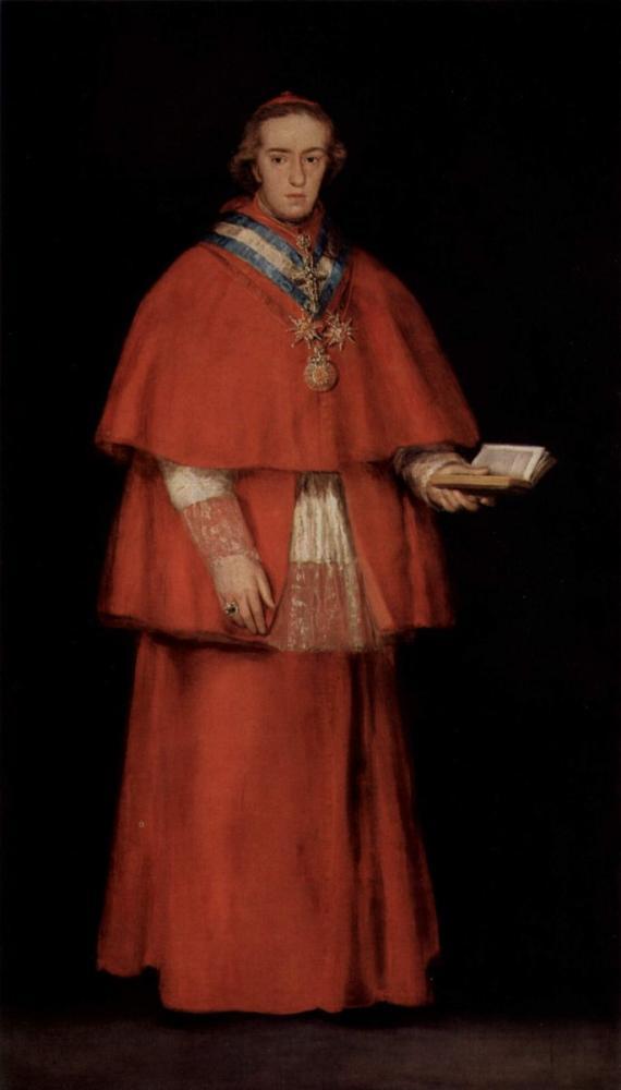 Francisco Goya, Kardinal Luis María de Borbón Ve Vallabriga Portresi, Kanvas Tablo, Francisco Goya, kanvas tablo, canvas print sales