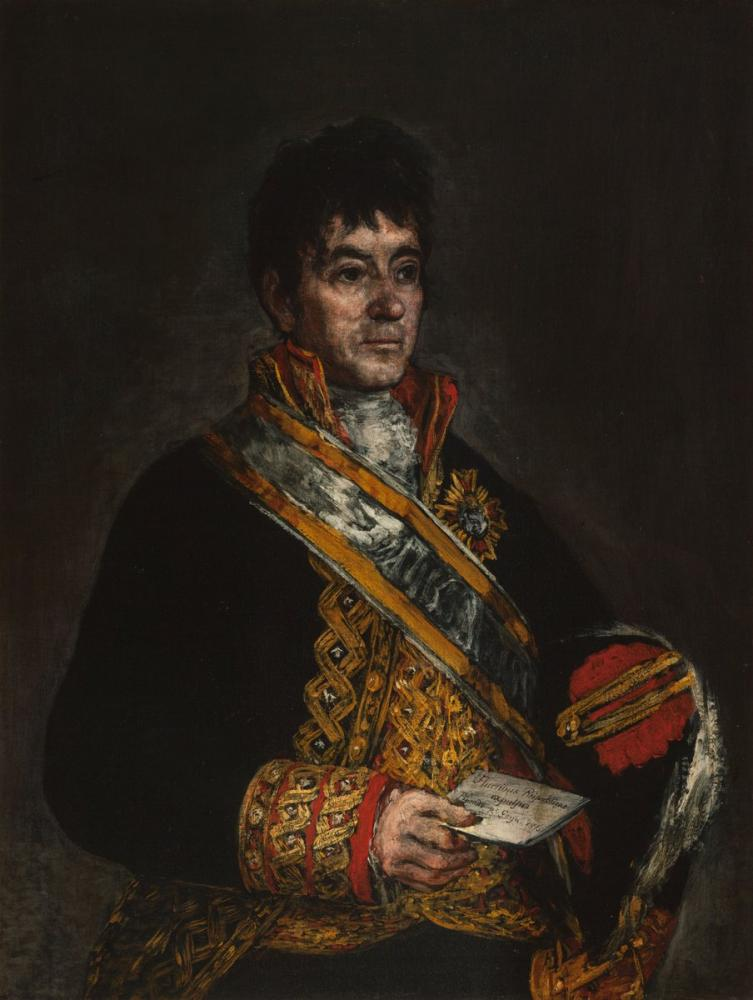 Francisco Goya, Don Miguel De Lardizábal Portresi, Kanvas Tablo, Francisco Goya, kanvas tablo, canvas print sales