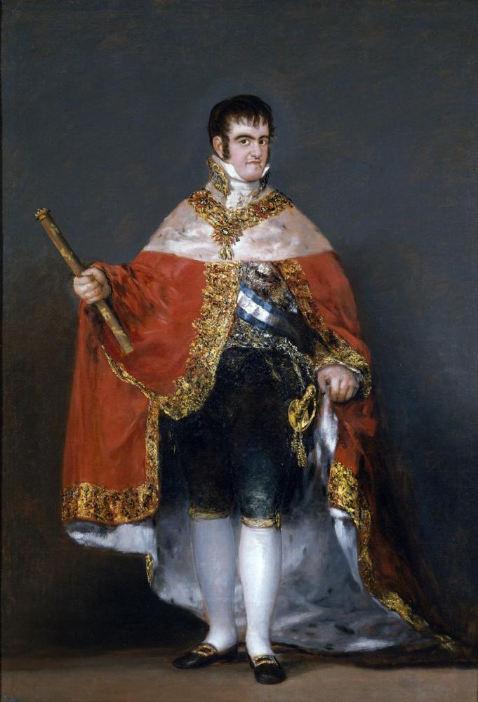 Francisco Goya, Ferdinand VII Portresi, Kanvas Tablo, Francisco Goya, kanvas tablo, canvas print sales