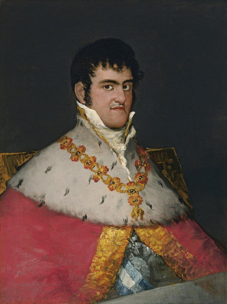Francisco Goya, Portrait of Ferdinand VII, Canvas, Francisco Goya, kanvas tablo, canvas print sales