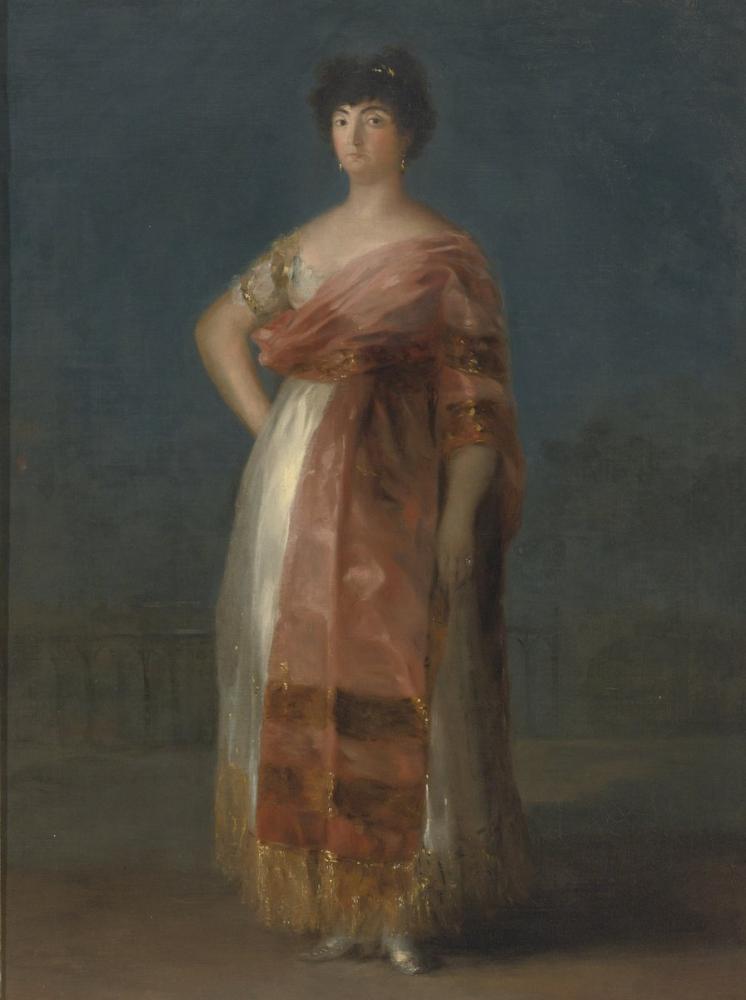 Francisco Goya, Portrait of María Del Rosario Fernández, Canvas, Francisco Goya, kanvas tablo, canvas print sales