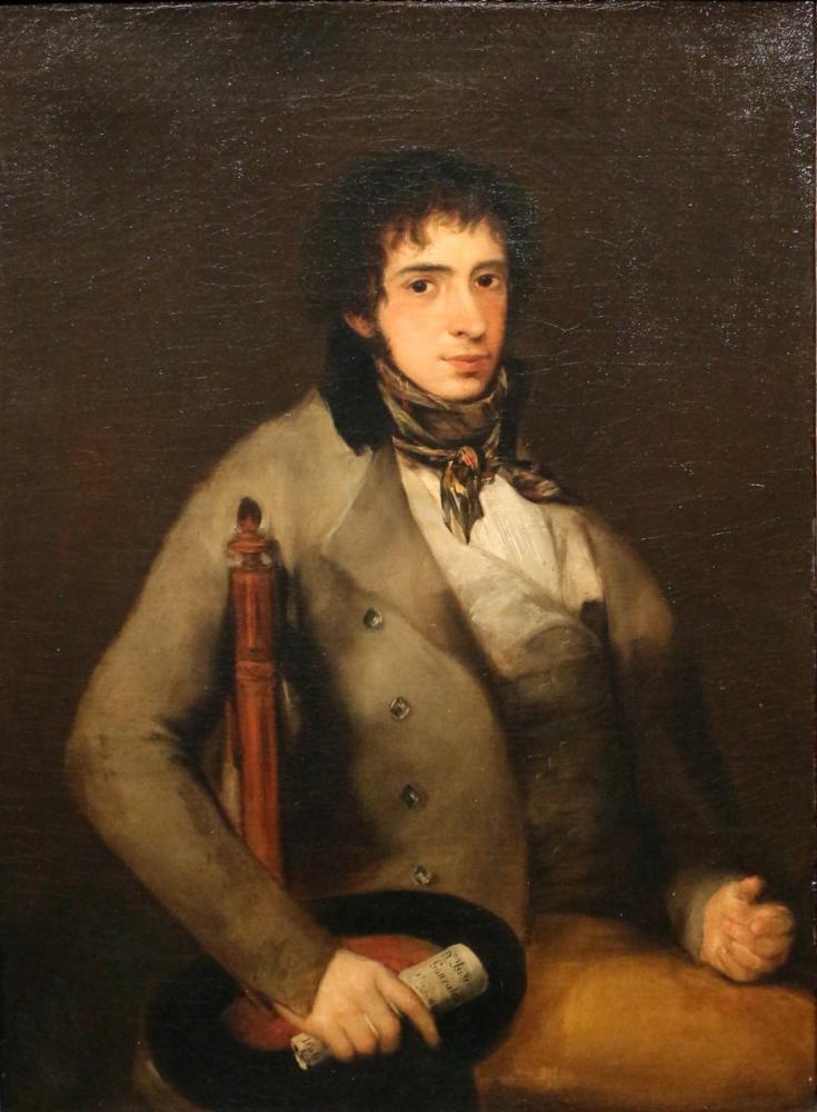 Francisco Goya, Mimarın Portresi Isidro Gonzáles Velázquez, Kanvas Tablo, Francisco Goya, kanvas tablo, canvas print sales