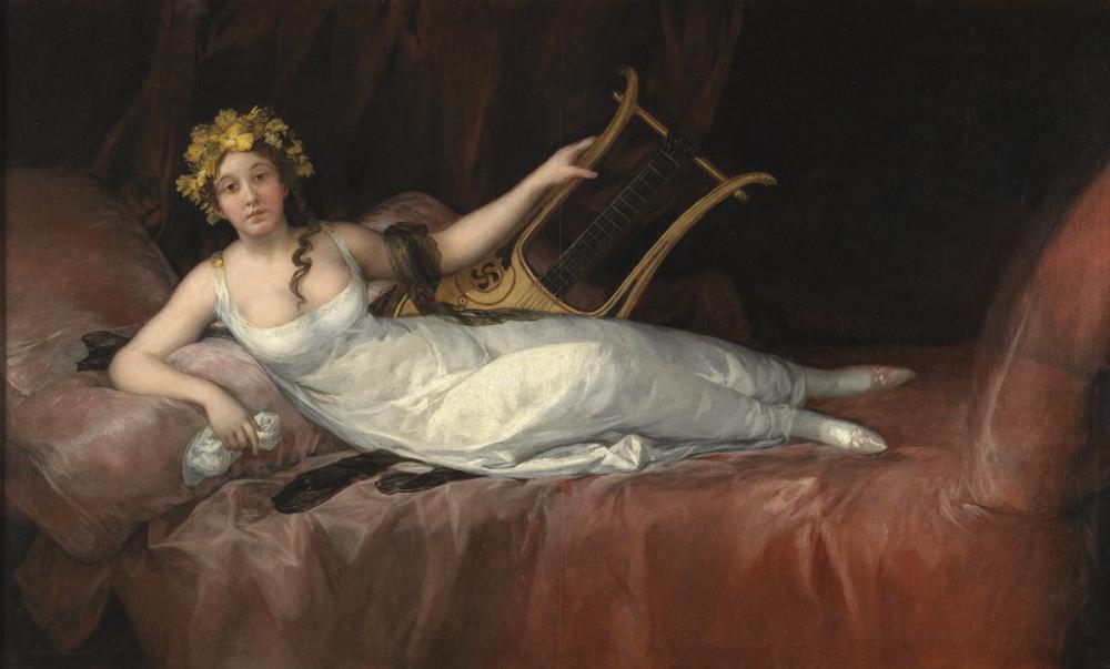 Francisco Goya, Portrait of The Marchioness of Santa Cruz, Canvas, Francisco Goya, kanvas tablo, canvas print sales