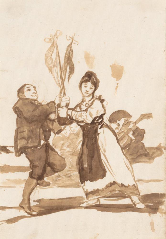 Francisco Goya, Provincial Dance, Canvas, Francisco Goya, kanvas tablo, canvas print sales