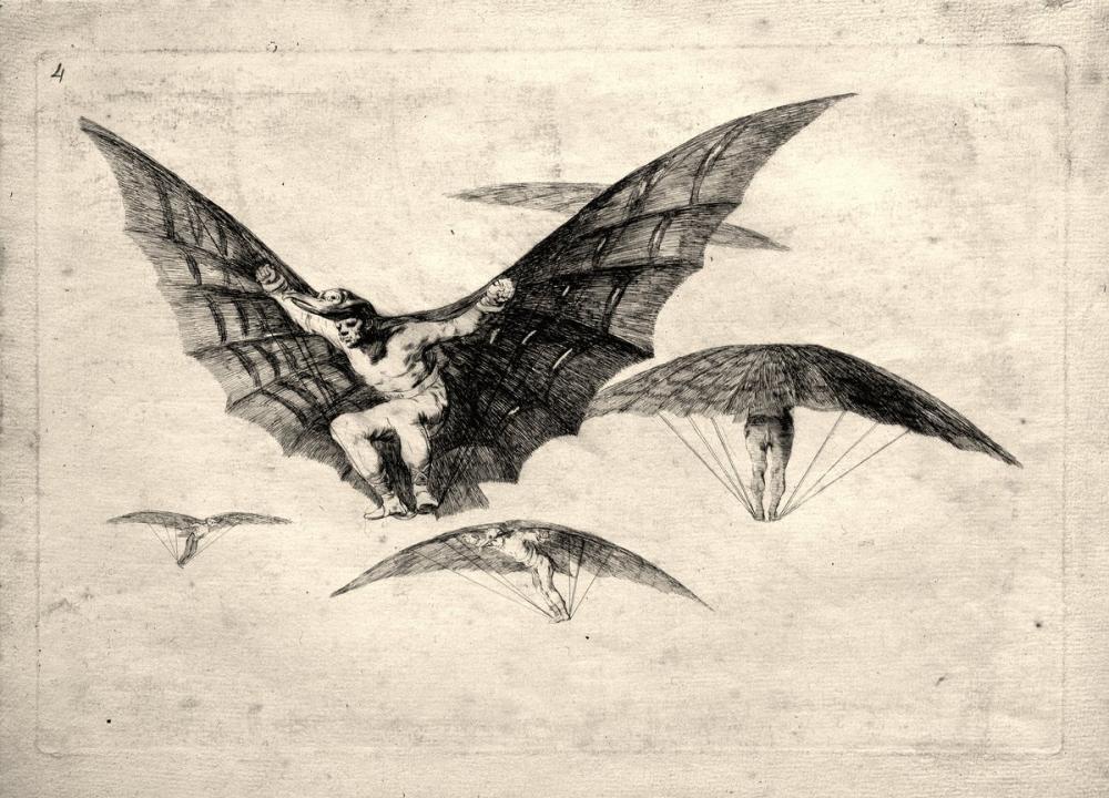 Francisco Goya, A Way Of Flying II, Figure, Francisco Goya, kanvas tablo, canvas print sales