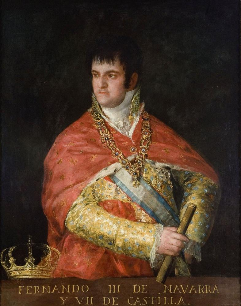 Francisco Goya, Fernando VII Büstünün Portresi, Kanvas Tablo, Francisco Goya, kanvas tablo, canvas print sales