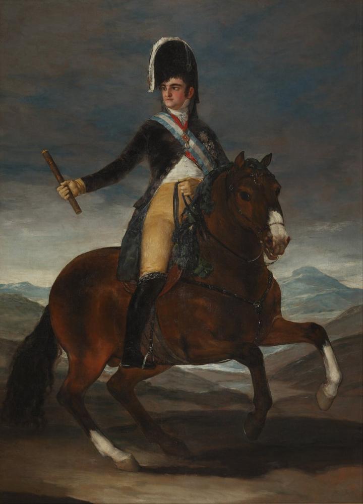 Francisco Goya, Retrato Ecuestre de Fernando VII, Canvas, Francisco Goya, kanvas tablo, canvas print sales