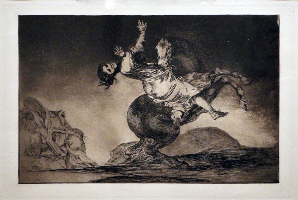 Francisco Goya, Bir Kadın Ve Bir At Bir Başkasına İzin Verdi, Kanvas Tablo, Francisco Goya, kanvas tablo, canvas print sales