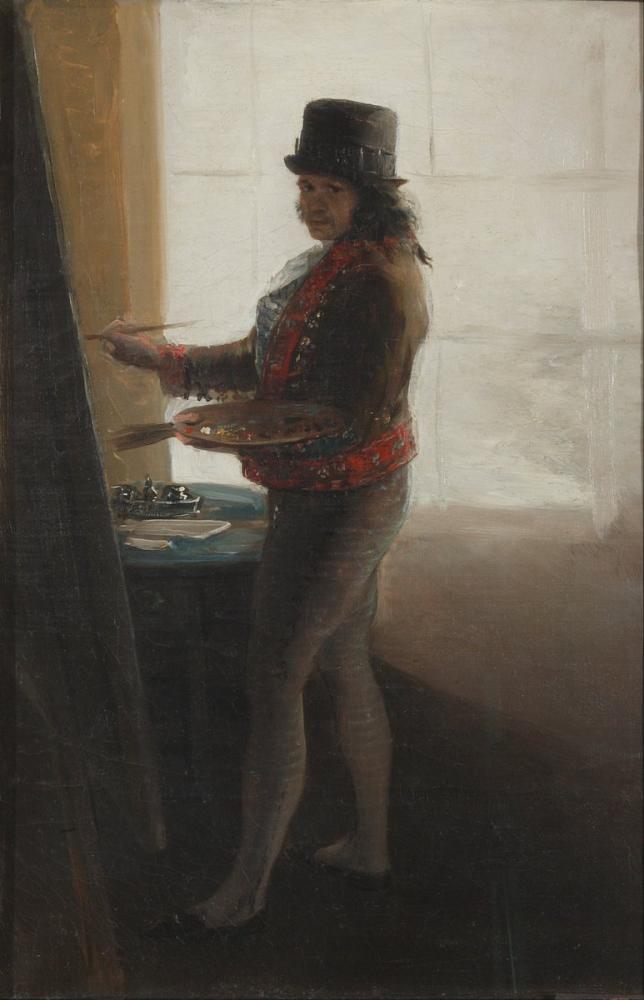 Francisco Goya, Self Portrait Before The Easel, Canvas, Francisco Goya, kanvas tablo, canvas print sales