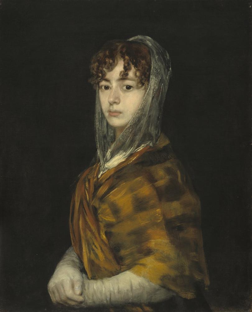 Francisco Goya, Señora Sabasa Garcia, Canvas, Francisco Goya, kanvas tablo, canvas print sales