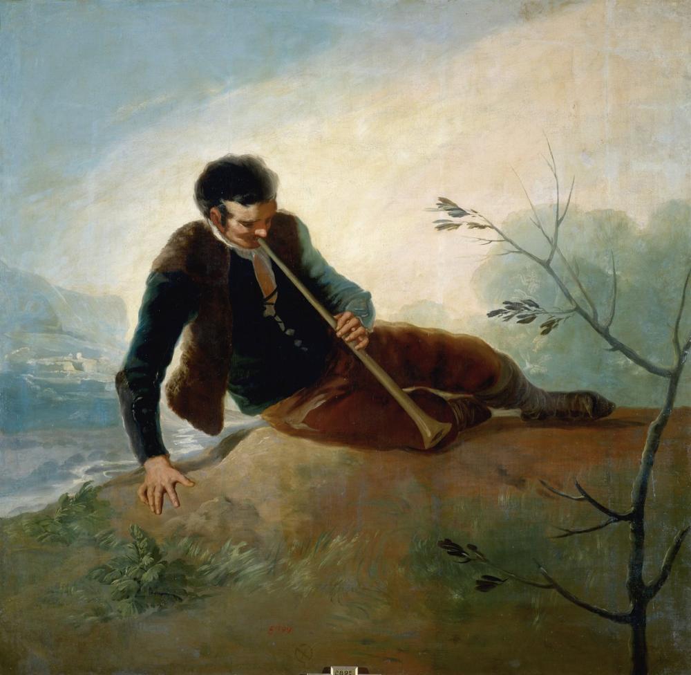 Francisco Goya, Shepherd Playing The Dulzaina, Canvas, Francisco Goya, kanvas tablo, canvas print sales