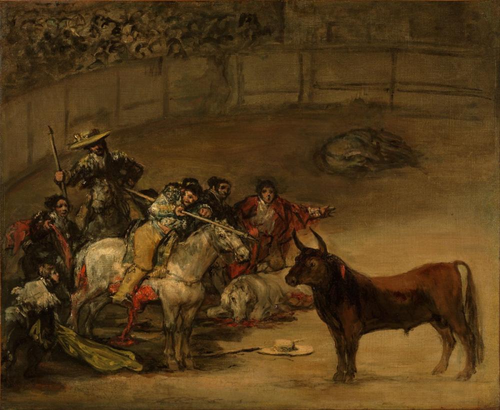 Francisco Goya, İspanyol Boğa Güreşi Değneklerinden Şans, Kanvas Tablo, Francisco Goya, kanvas tablo, canvas print sales