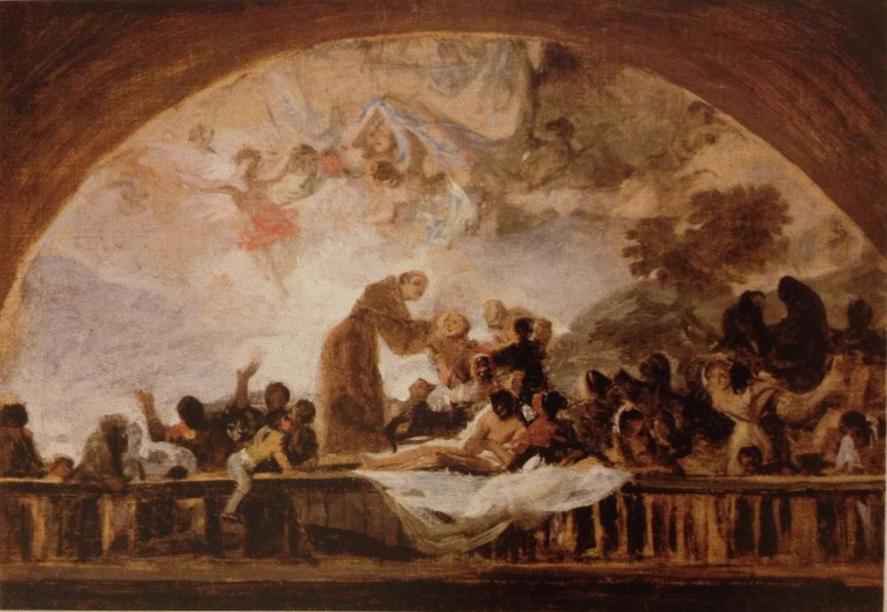 Francisco Goya, La Florida lı St Anthony, Kanvas Tablo, Francisco Goya, kanvas tablo, canvas print sales