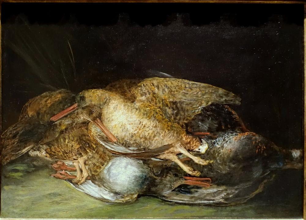 Francisco Goya, Still Life With Woodcocks, Canvas, Francisco Goya, kanvas tablo, canvas print sales