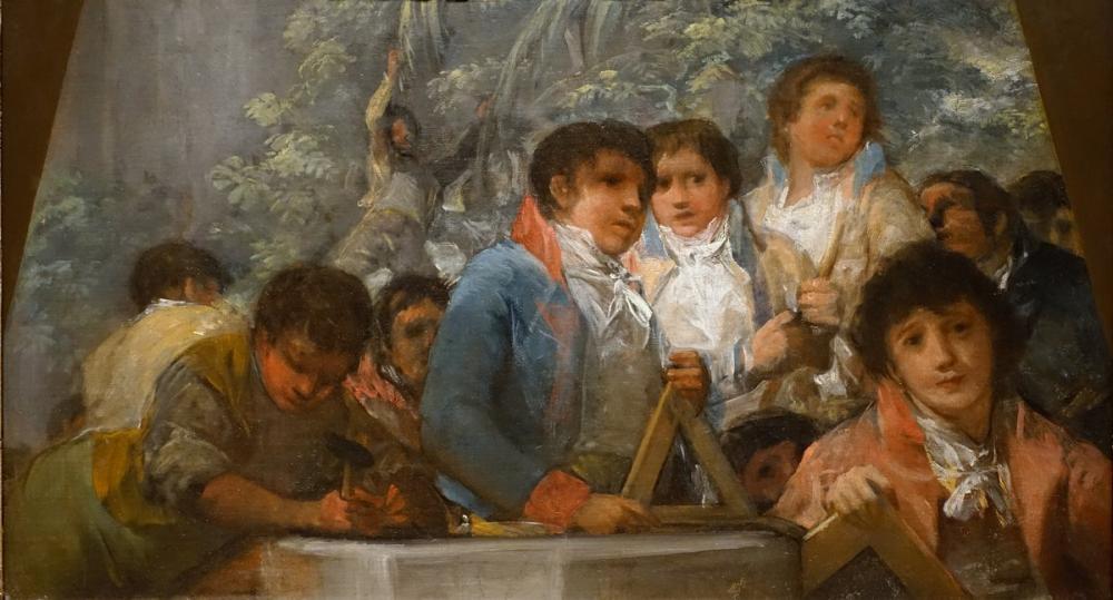 Francisco Goya, Students From The Pestalozzian Academy, Canvas, Francisco Goya, kanvas tablo, canvas print sales