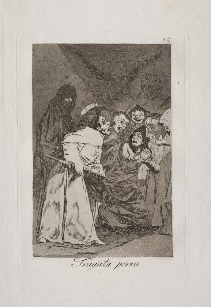 Francisco Goya, Köpeği Yut, Figür, Francisco Goya, kanvas tablo, canvas print sales