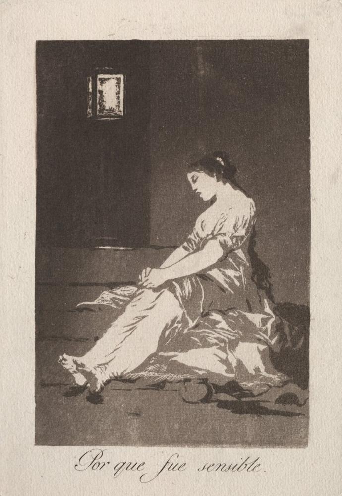 Francisco Goya, Hassas Olduğu İçin, Figür, Francisco Goya, kanvas tablo, canvas print sales