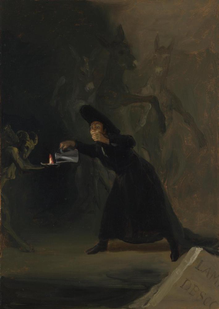 Francisco Goya, Büyülü Adam, Figür, Francisco Goya, kanvas tablo, canvas print sales